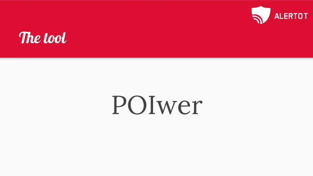 The tool POIwer