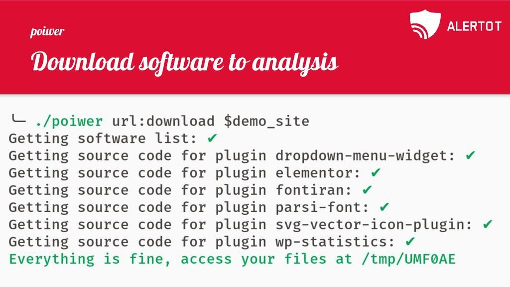 Download software to analysis poiwer
