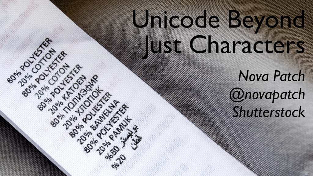 Unicode Beyond Just Characters Nova Patch @nova...