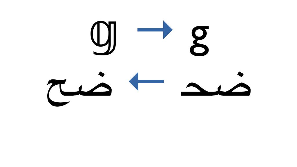 → g ﲵ ← حض ㋻ →ワ