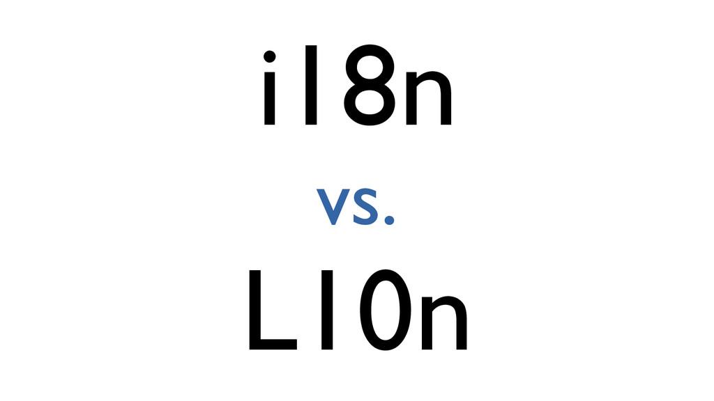 i18n vs. L10n