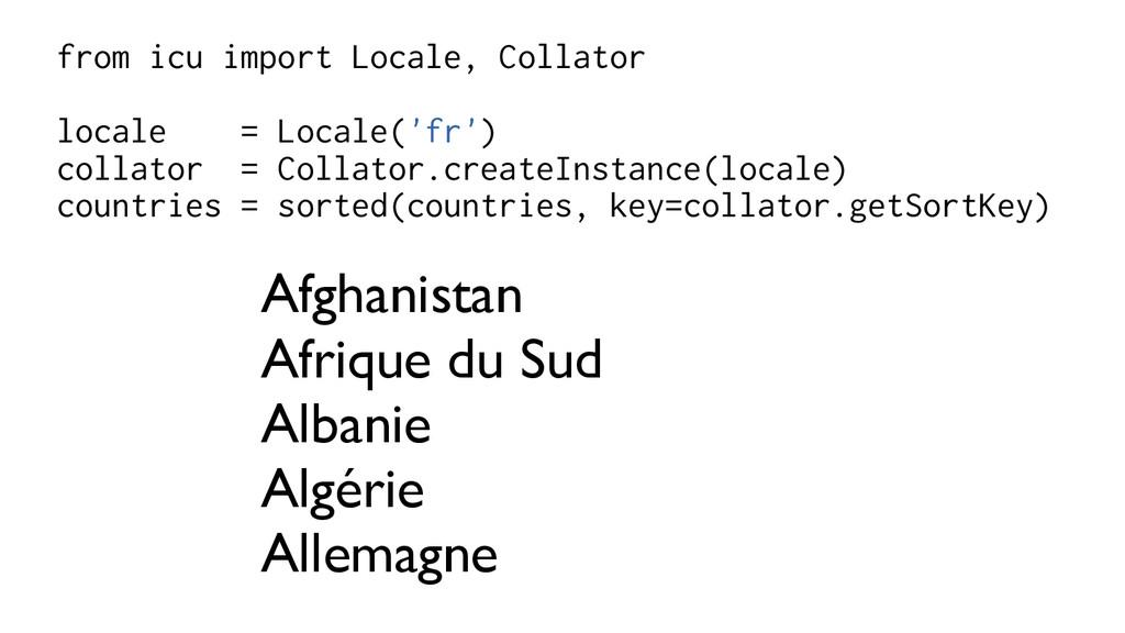 from icu import Locale, Collator locale = Local...