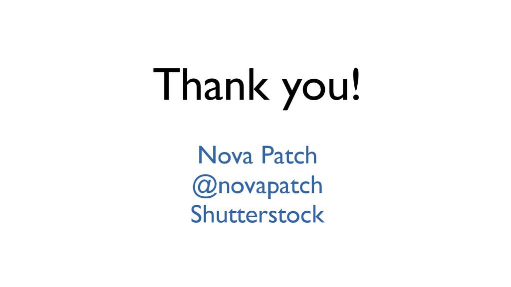 Thank you! Nova Patch @novapatch Shutterstock