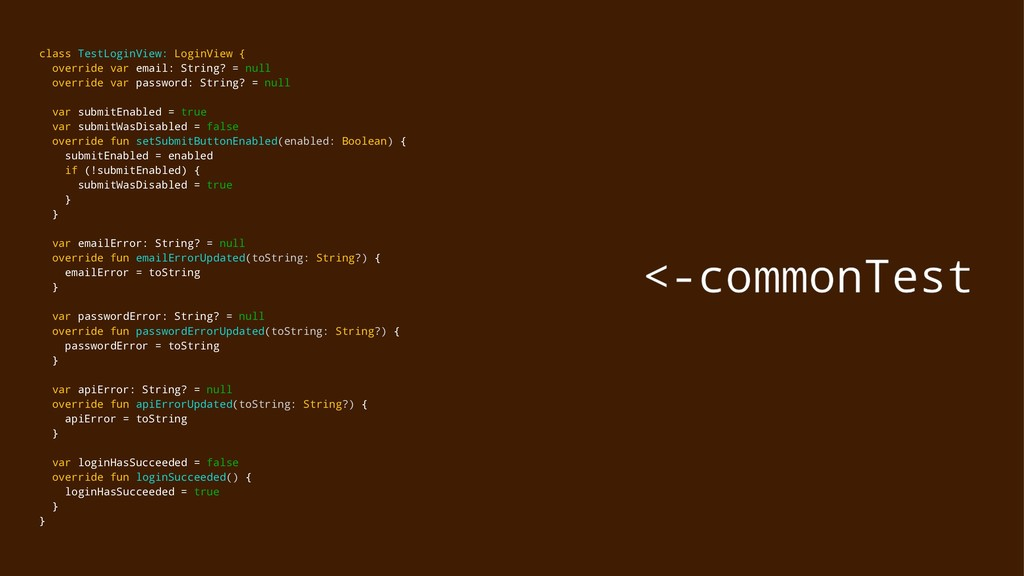 class TestLoginView: LoginView { override var e...