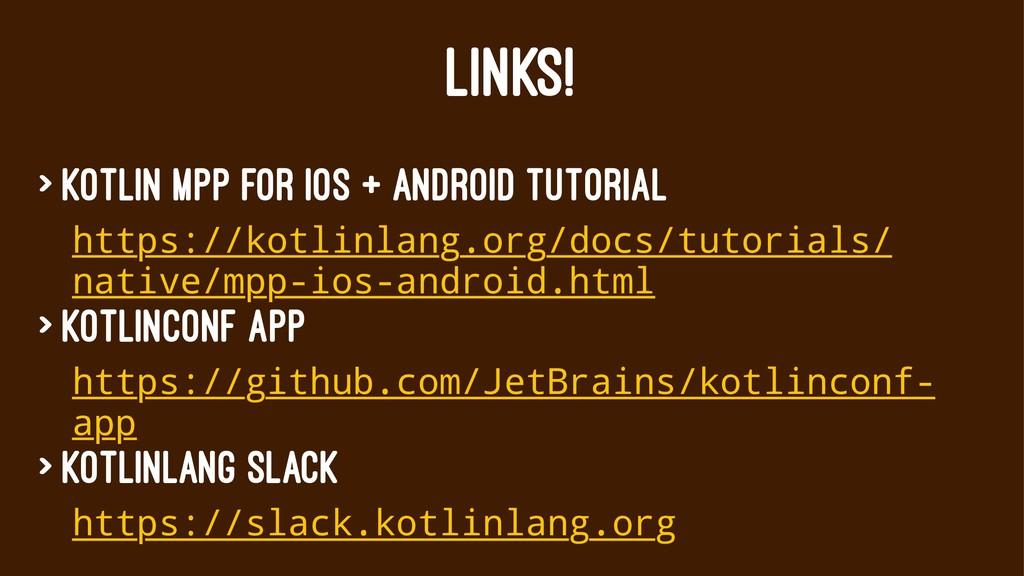 LINKS! > Kotlin MPP for iOS + Android tutorial ...