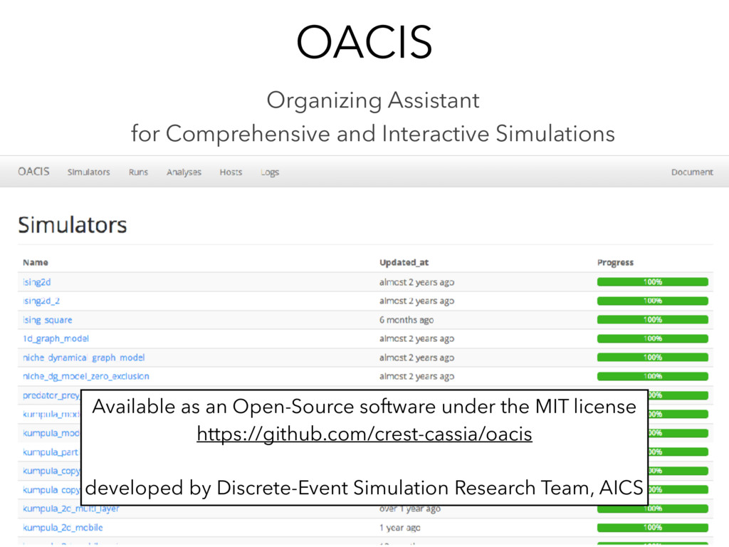 OACIS Organizing Assistant for Comprehensive an...