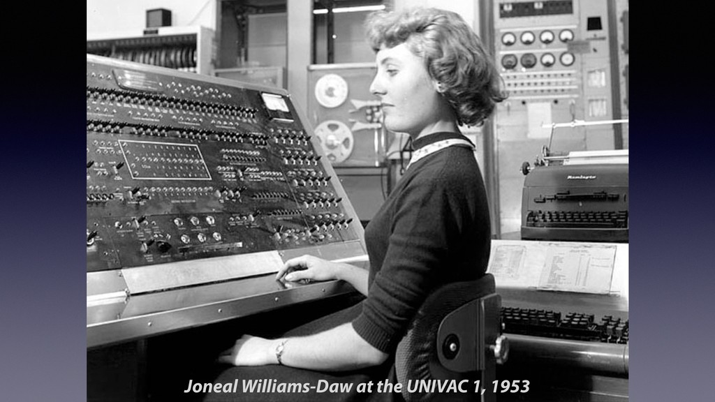 Joneal Williams-Daw at the UNIVAC 1, 1953