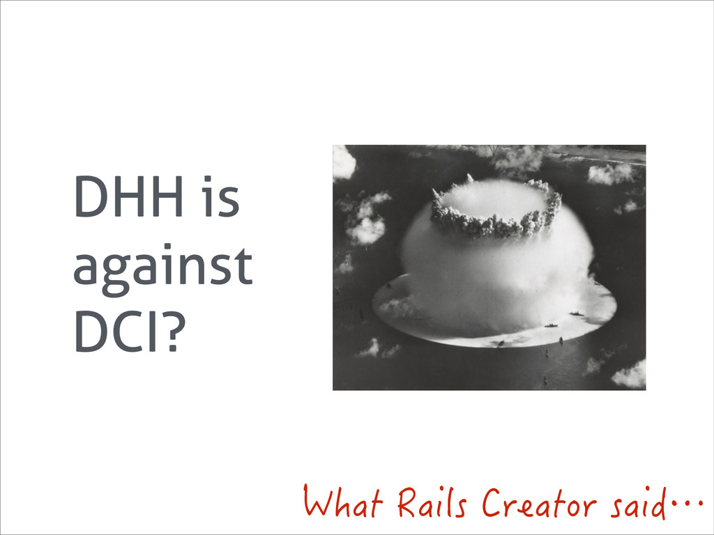 DHH is against DCI? 9JCV4CKNU%TGCVQTUCKFŎ