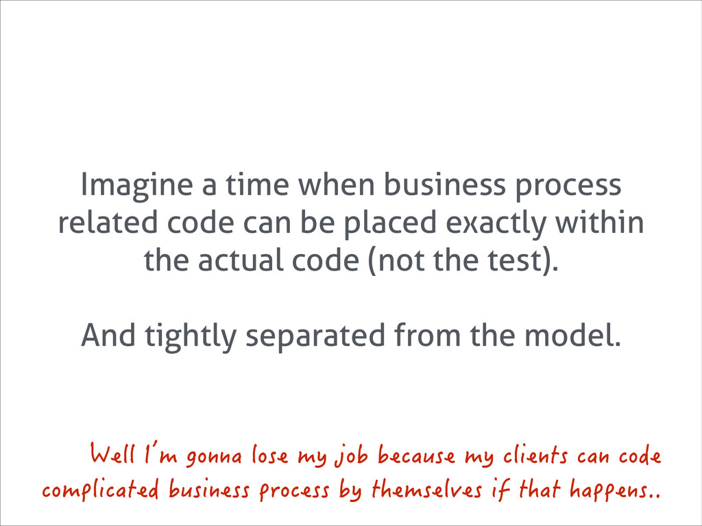 Imagine a time when business process related co...