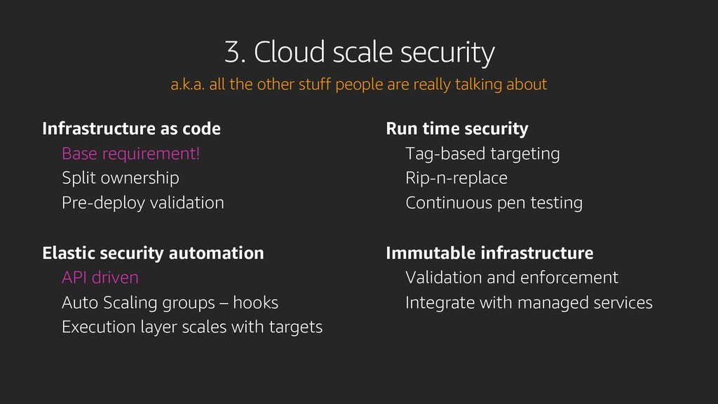 Infrastructure as code Base requirement! Split ...
