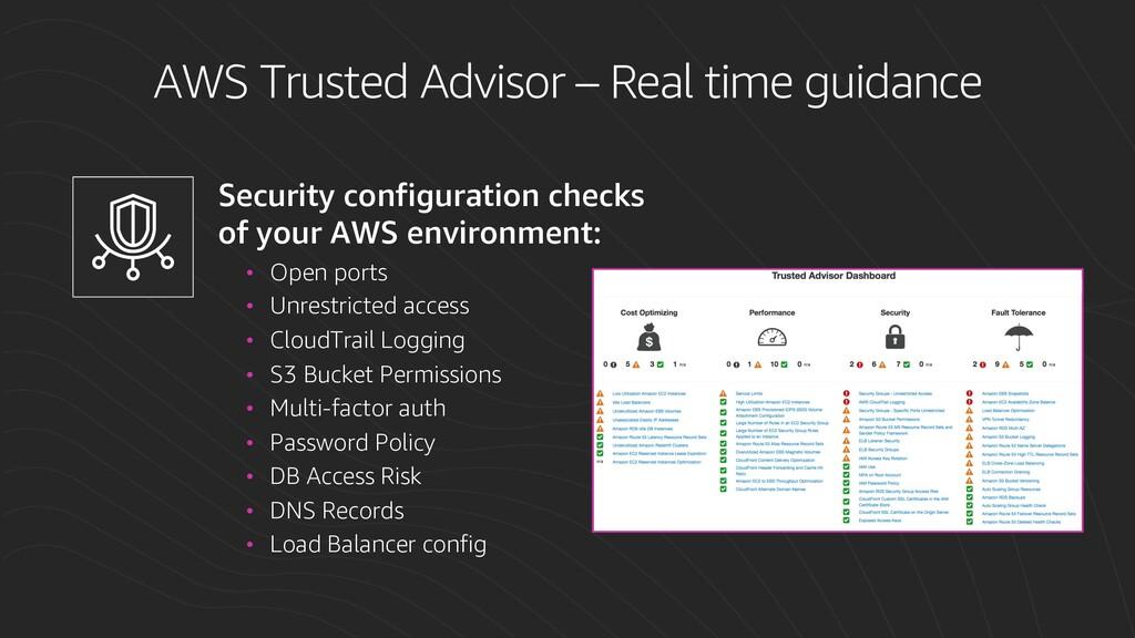 Security configuration checks of your AWS envir...