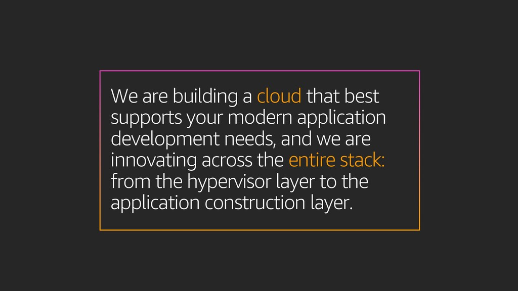 We are building a cloud that best supports your...
