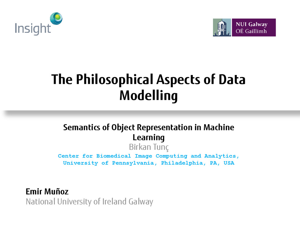The Philosophical Aspects of Data Modelling Emi...