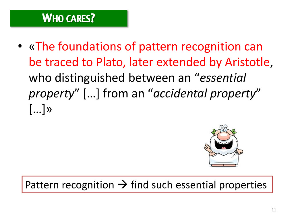 11 • «The foundations of pattern recognition ca...