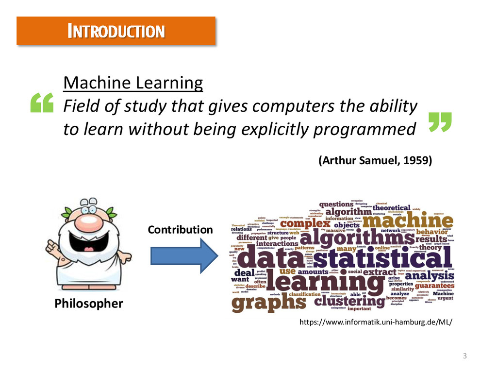 3 Machine Learning Field of study that gives co...
