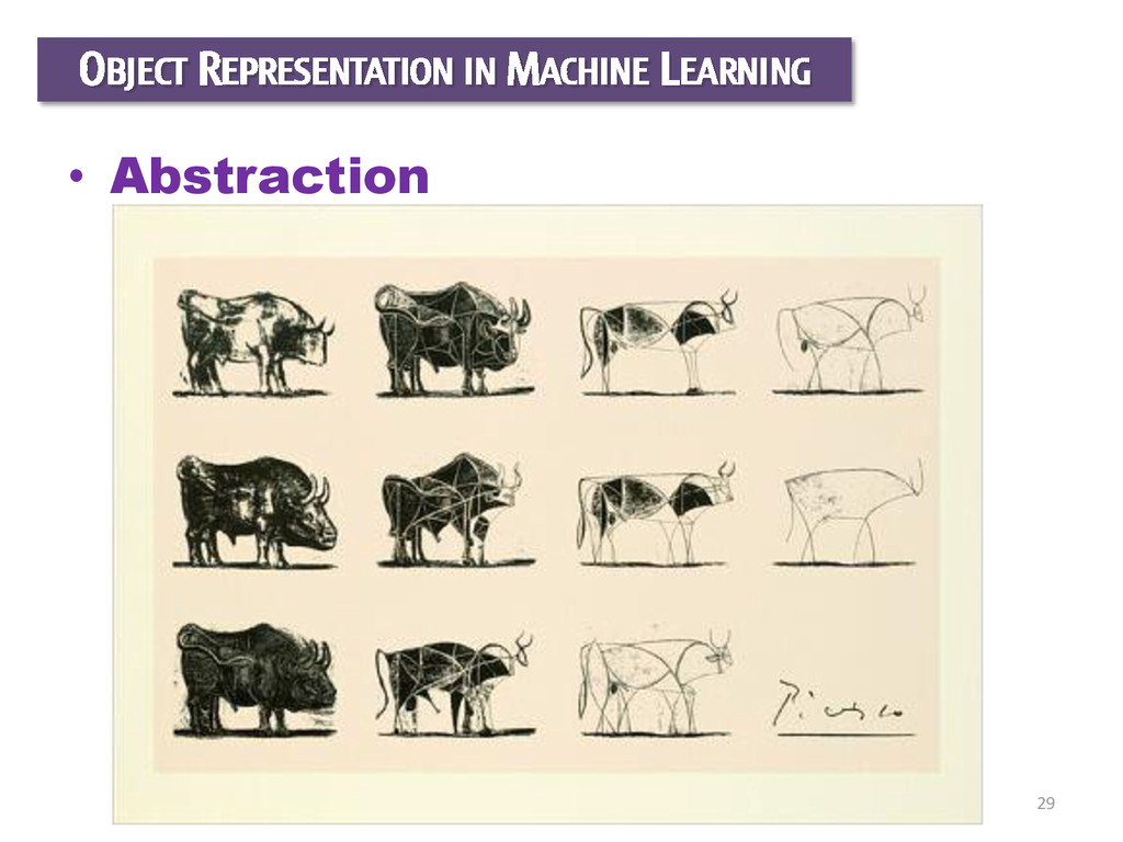 29 OBJECT REPRESENTATION IN MACHINE LEARNING • ...