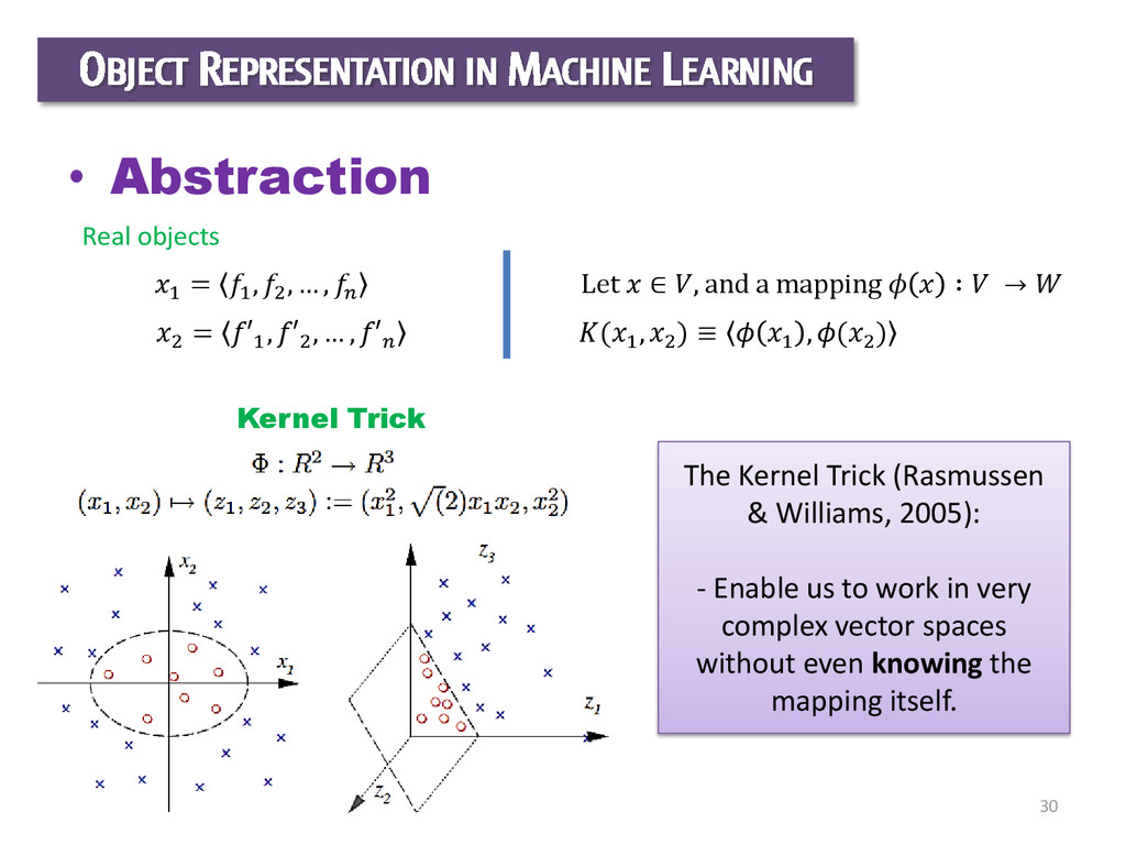 30 OBJECT REPRESENTATION IN MACHINE LEARNING • ...