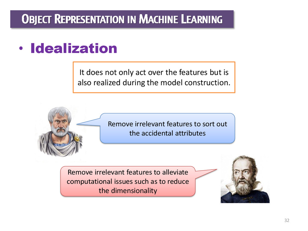 32 OBJECT REPRESENTATION IN MACHINE LEARNING • ...