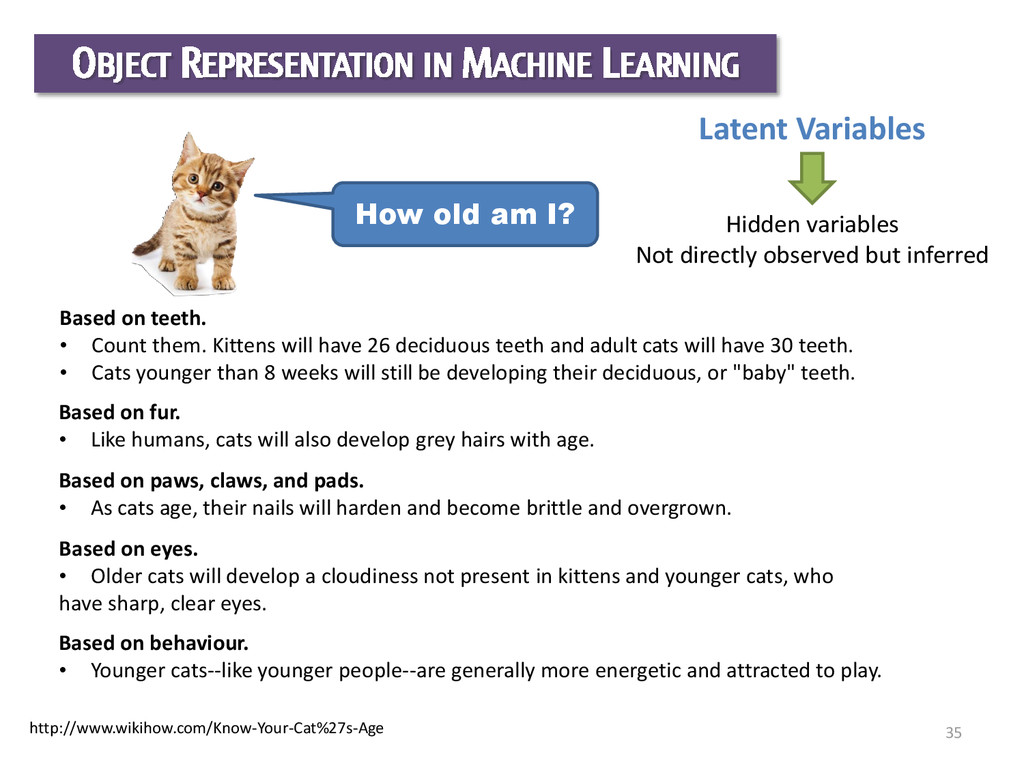 35 How old am I? Latent Variables Based on teet...