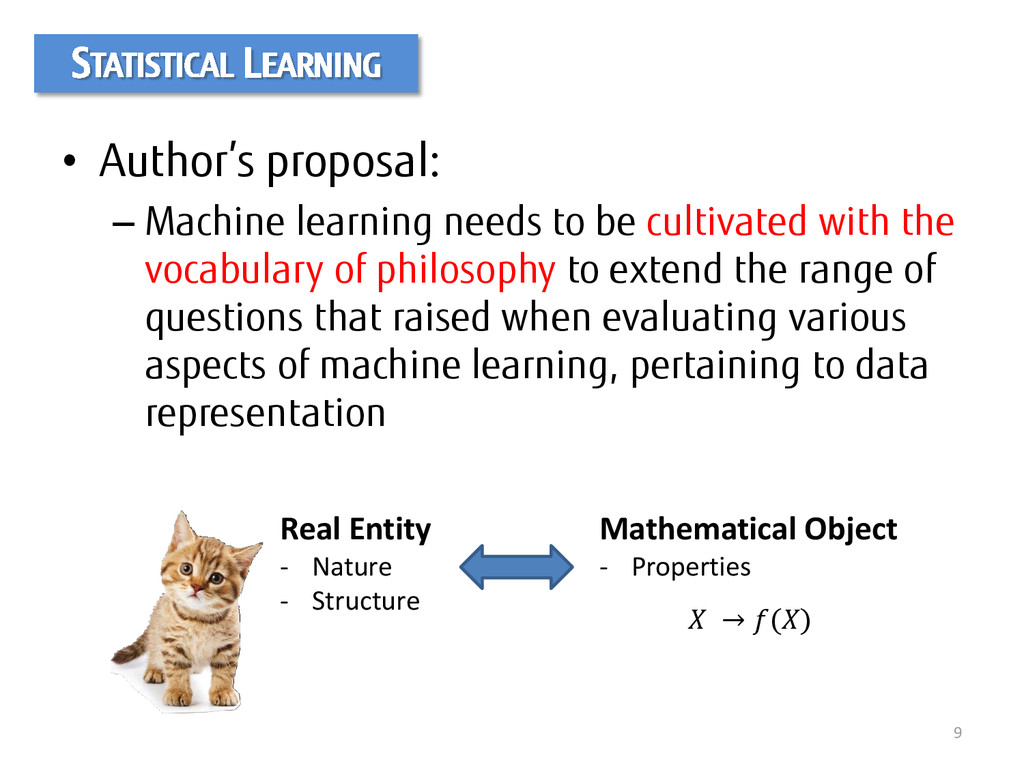 • Author's proposal: – Machine learning needs t...