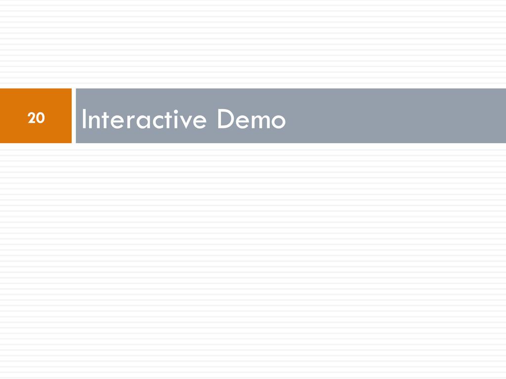 Interactive Demo 20