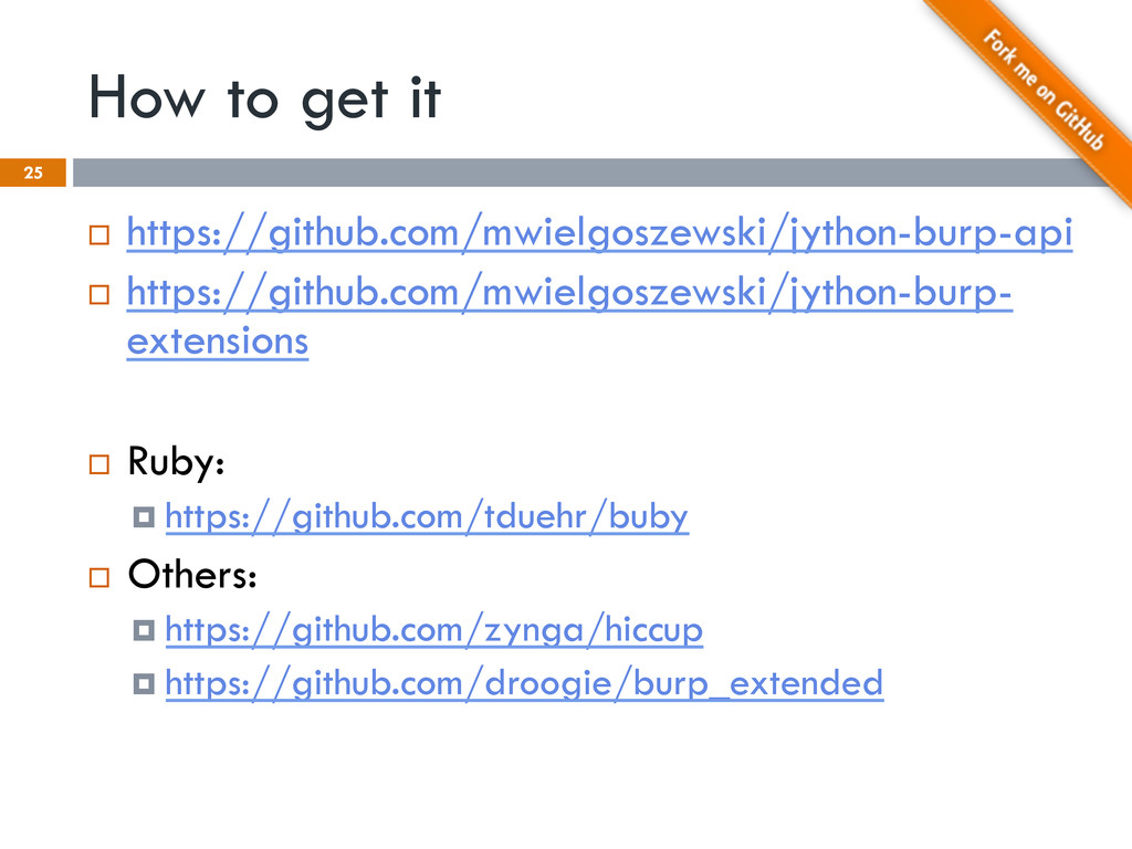 How to get it 25 ¨  https://github.com/mwielgo...