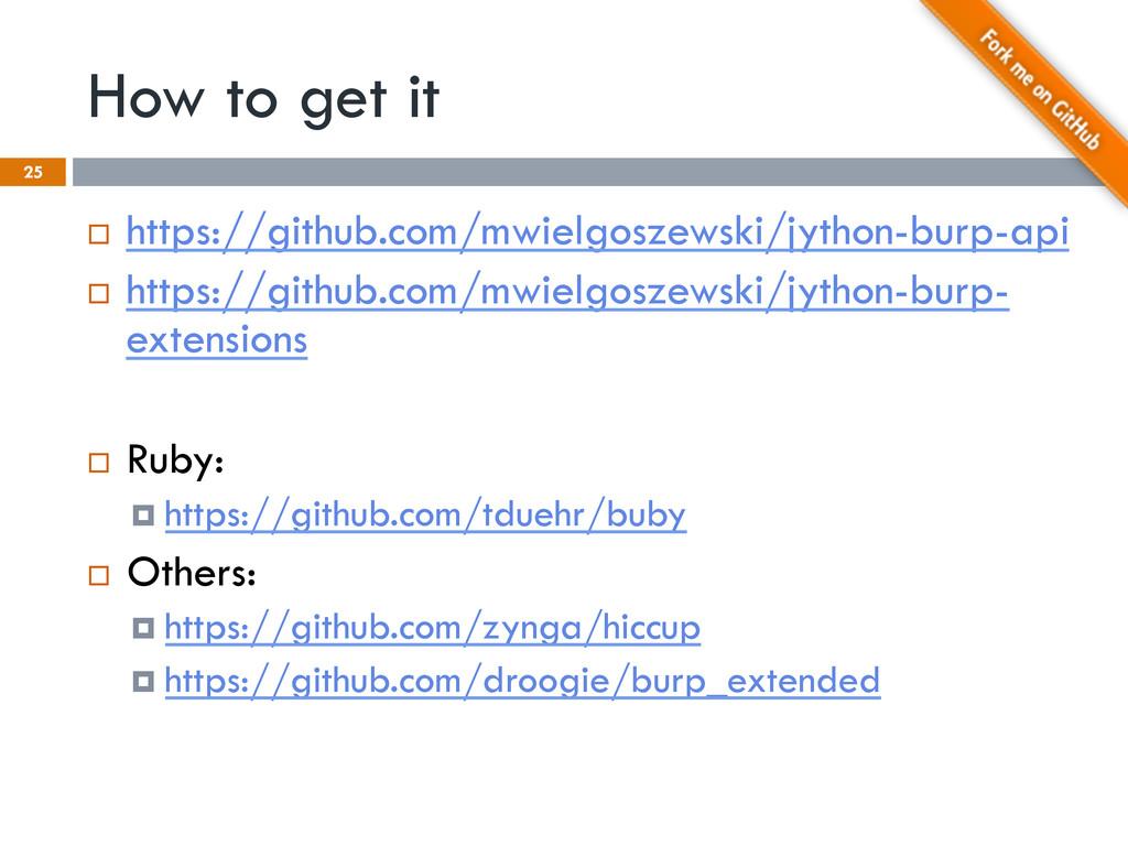 How to get it 25 ¨ https://github.com/mwielgo...