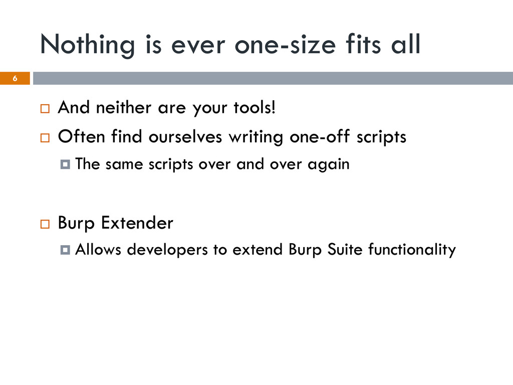Nothing is ever one-size fits all ¨ And neith...