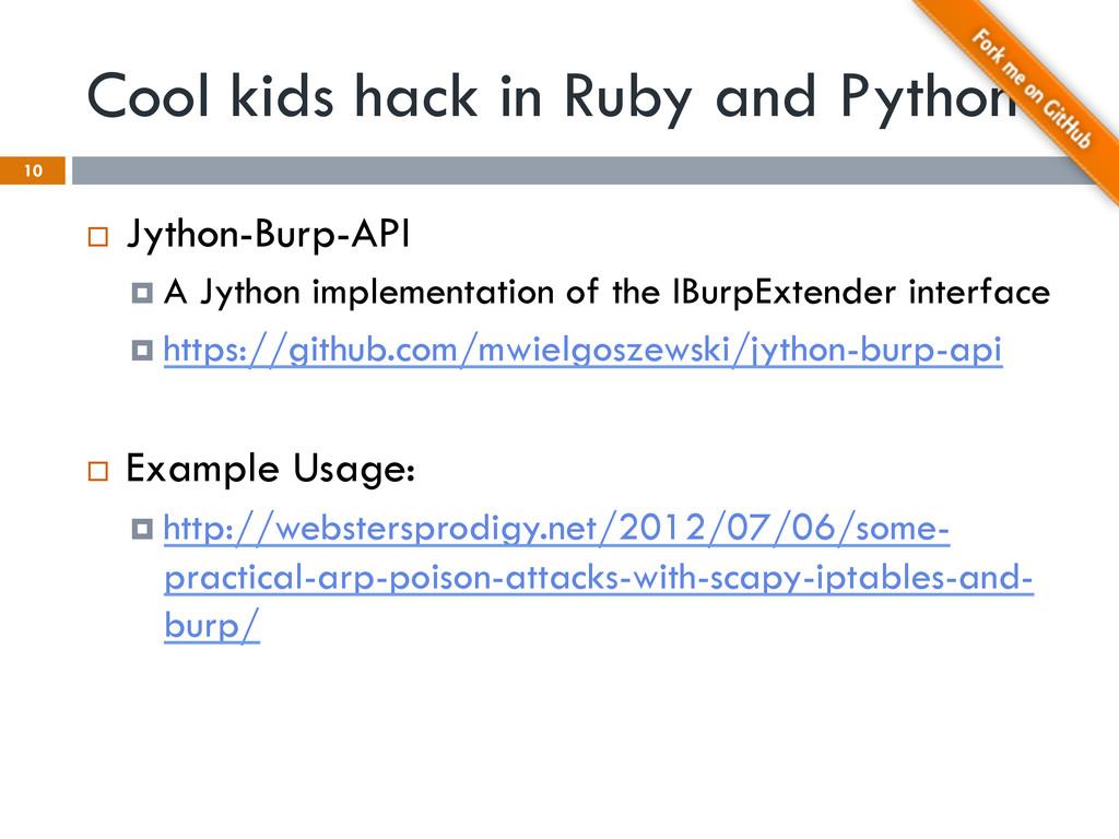 Cool kids hack in Ruby and Python ¨ Jython-Bu...