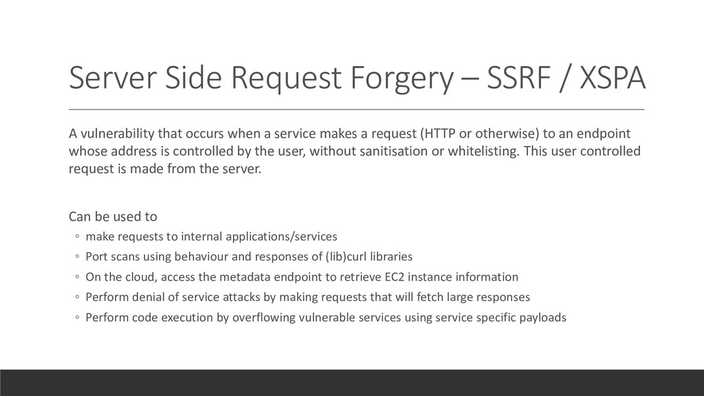 Server Side Request Forgery – SSRF / XSPA A vul...