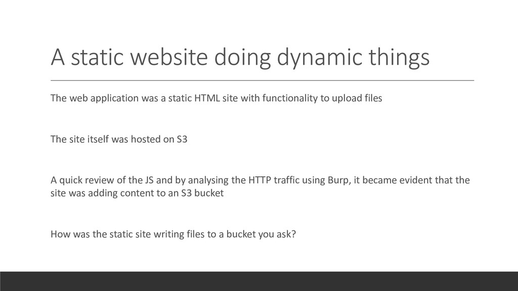 A static website doing dynamic things The web a...