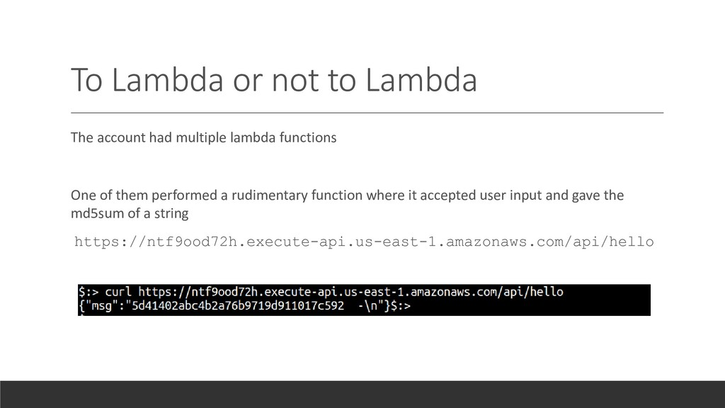 To Lambda or not to Lambda The account had mult...