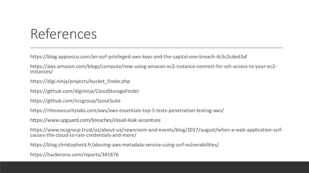 References https://blog.appsecco.com/an-ssrf-pr...