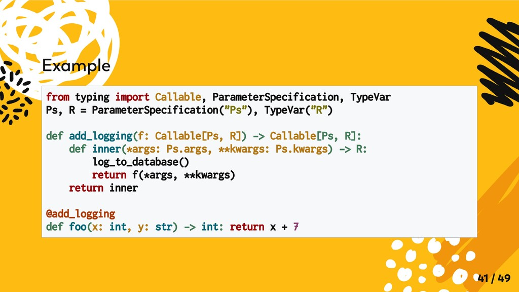 Example from typing import Callable, ParameterS...