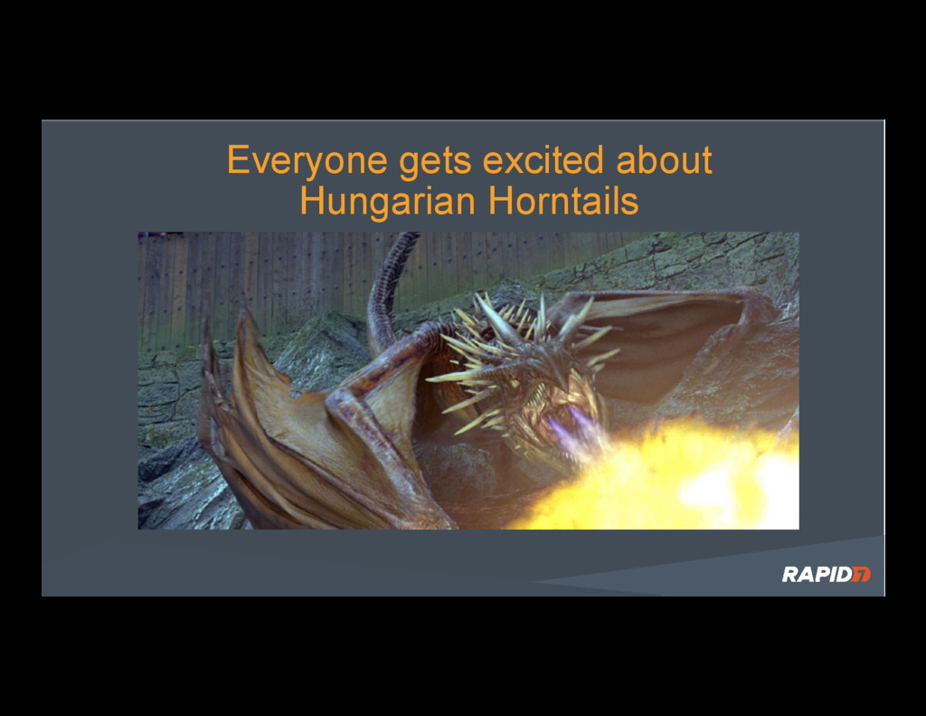 Everyone gets excited about Hungarian Horntails