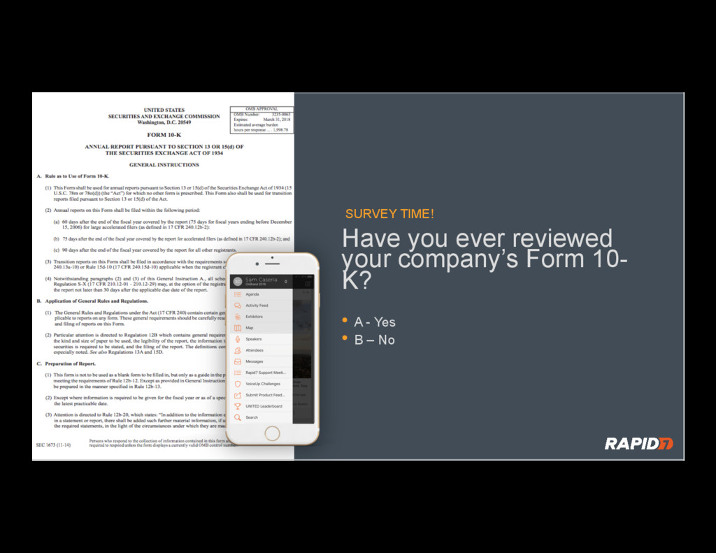 SURVEY TIME! Have you ever reviewed your compan...