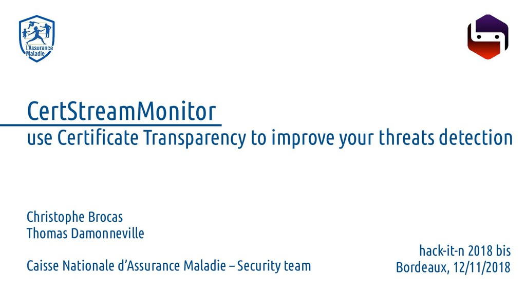 CertStreamMonitor use Certificate Transparency ...
