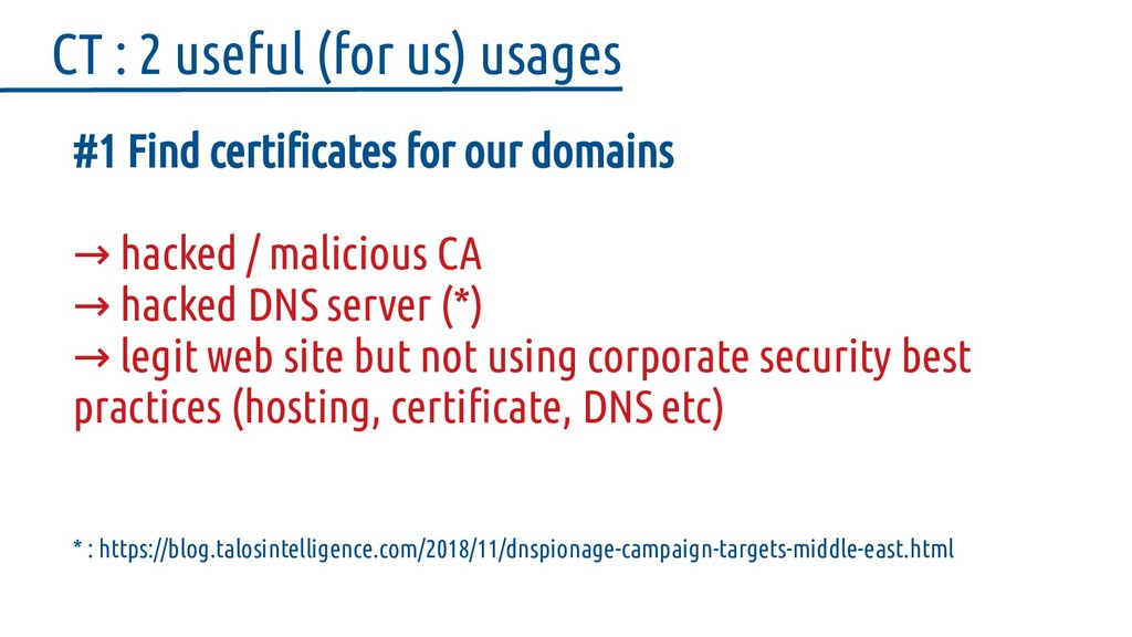 #1 Find certificates for our domains hacked / m...