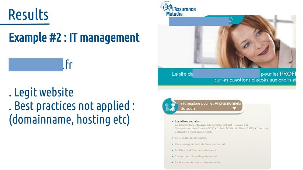 Example #2 : IT management social-ameli.fr . Le...