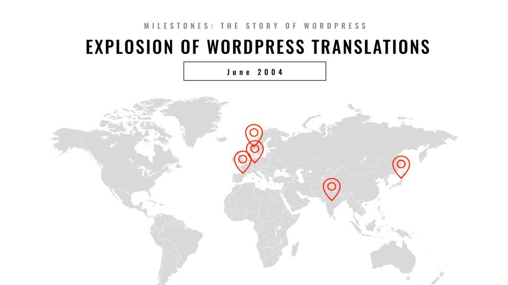 12 EXPLOSION OF WORDPRESS TRANSLATIONS J u n e ...