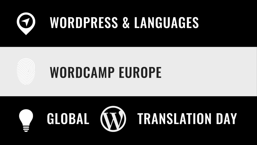 WORDCAMP EUROPE WORDPRESS & LANGUAGES GLOBAL TR...