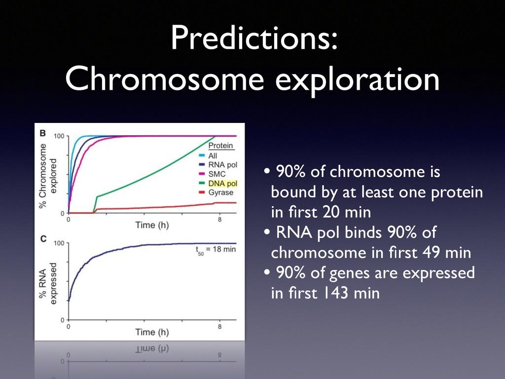 Predictions:  Chromosome exploration • 90% of ...