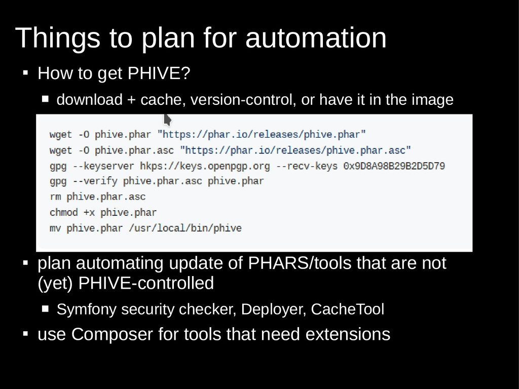  How to get PHIVE?  download + cache, version...