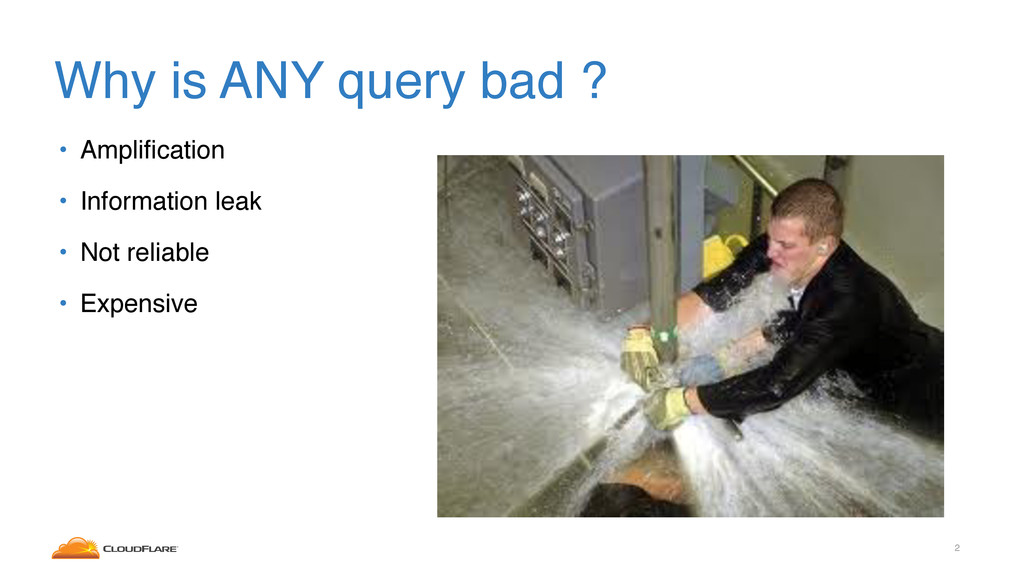 Why is ANY query bad ? • Amplification • Informa...