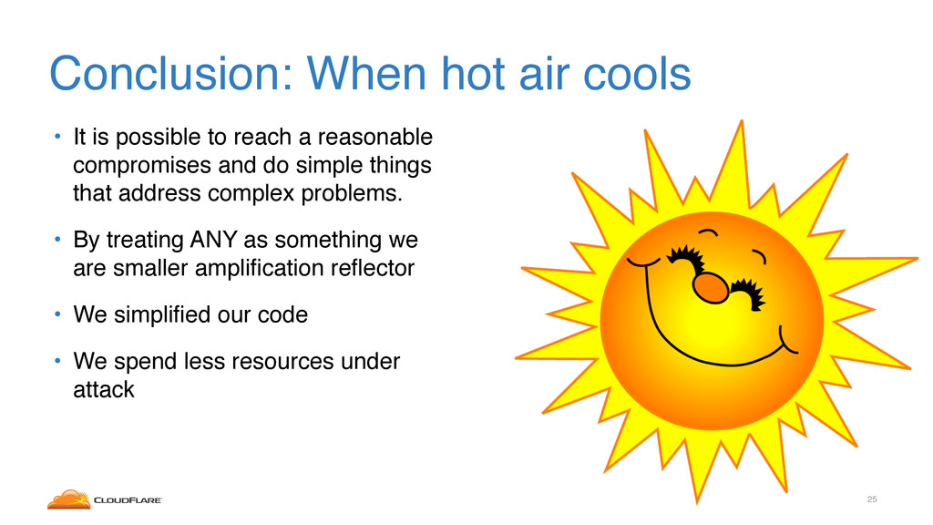 Conclusion: When hot air cools • It is possible...