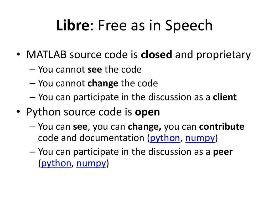 Libre: Free as in Speech • MATLAB source code i...