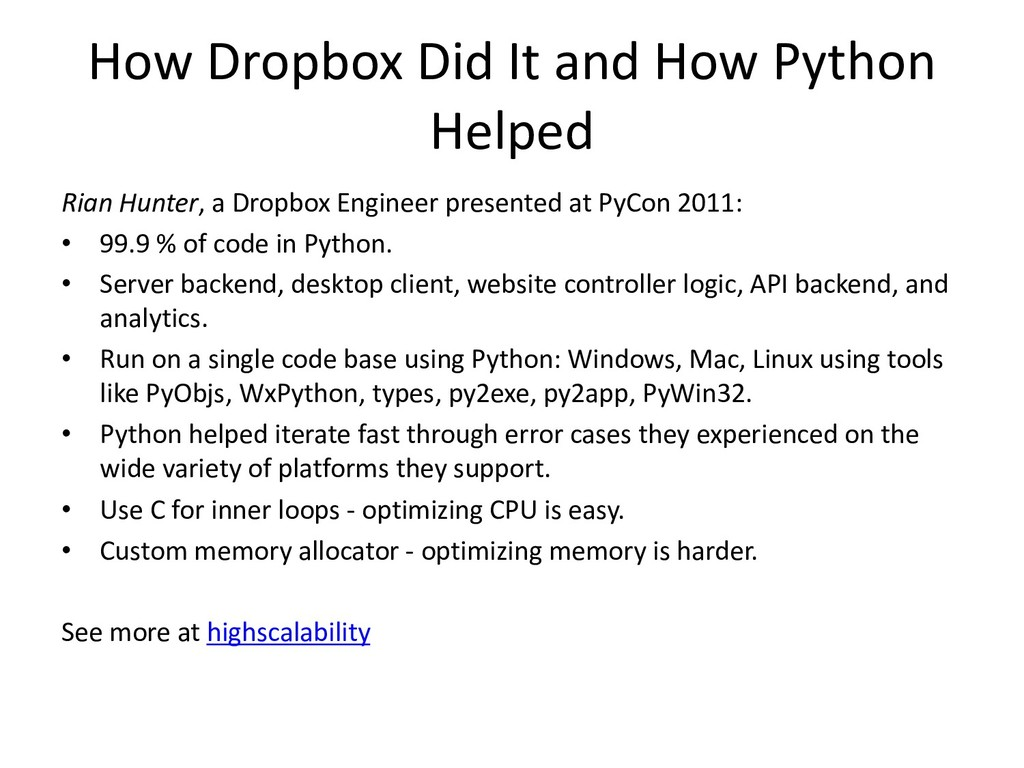How Dropbox Did It and How Python Helped Rian H...