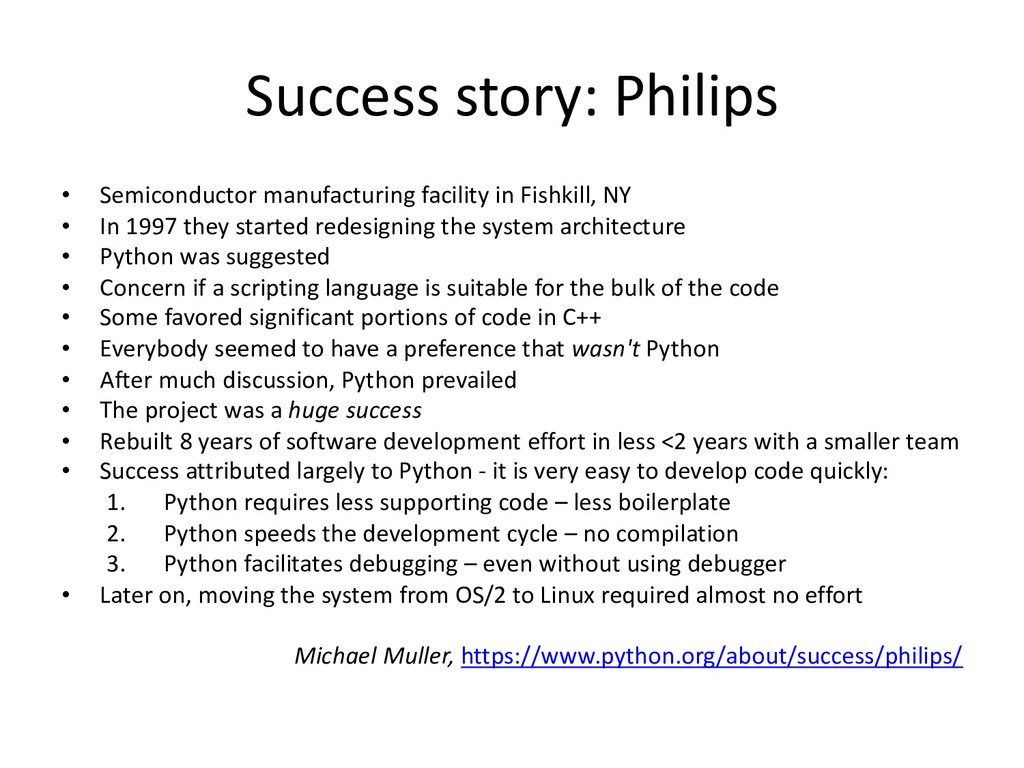 Success story: Philips • Semiconductor manufact...