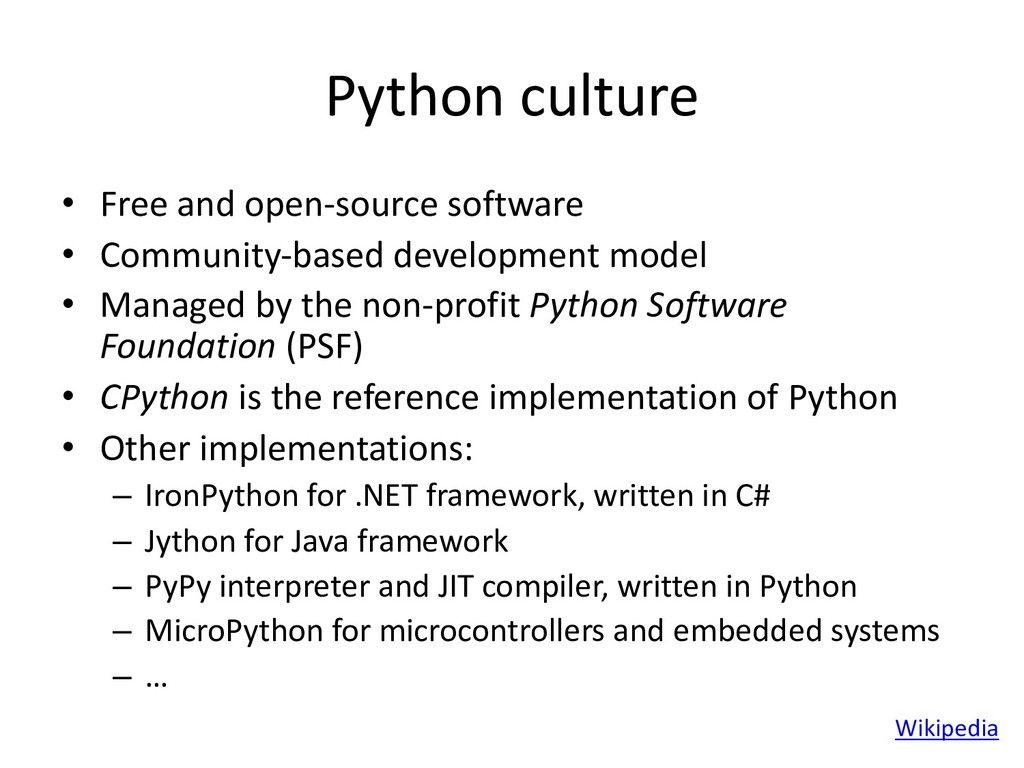 Python culture • Free and open-source software ...