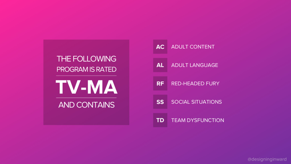 AC TV-MA THE FOLLOWING PROGRAM IS RATED AND CON...